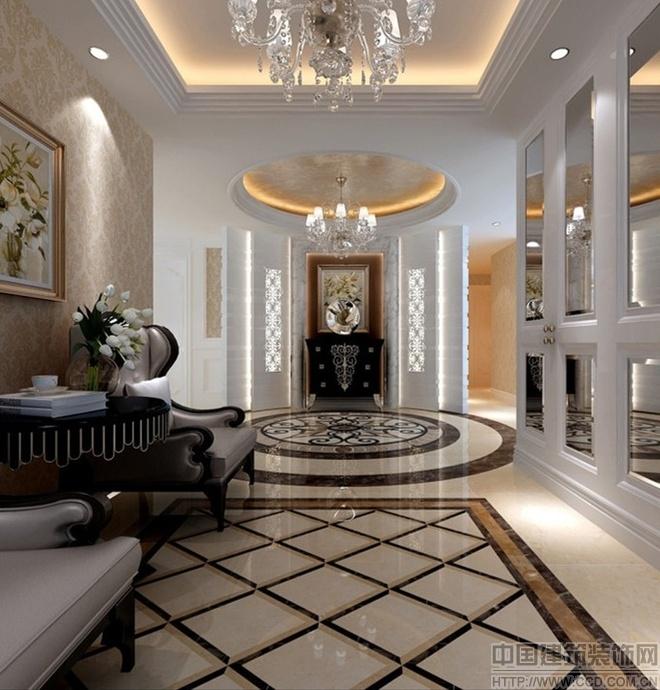 四室两厅古典欧式 高雅华丽装修设计(组图)图片