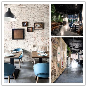 复古怀旧的砖墙风咖啡馆设计