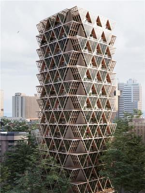 幾何形狀生態建筑綜合體