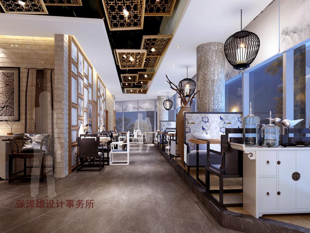 新中式餐厅设计--张泽雄的设计空间 -- 中国建筑装饰图片