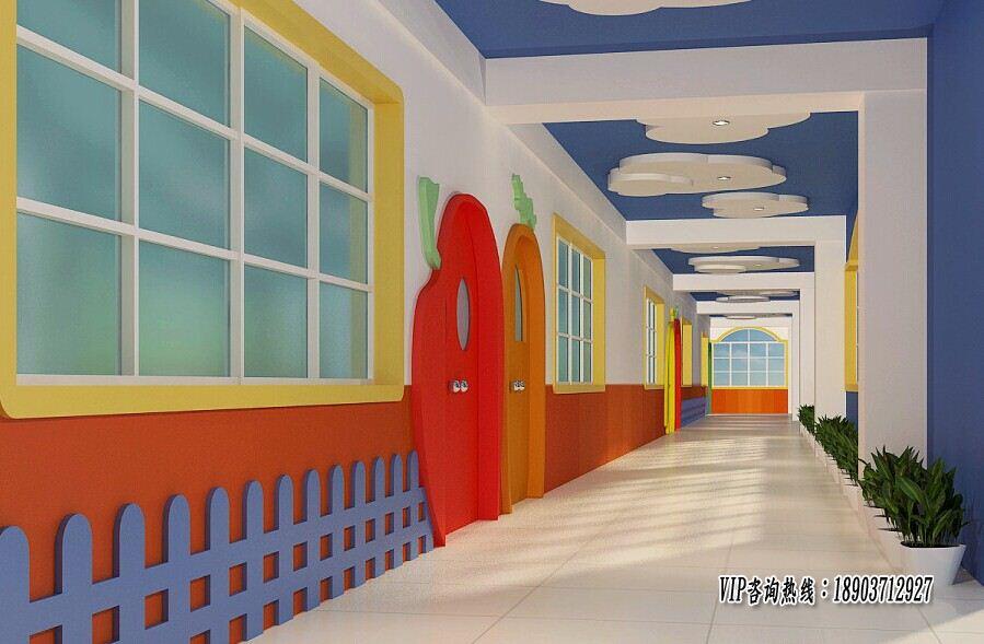 为了反映幼儿园生动,活泼,可爱,有趣的特点,门厅的装饰须透出其文化特