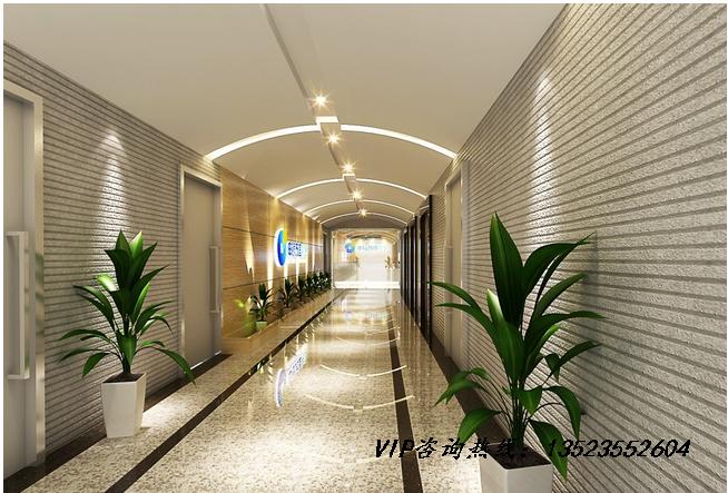 走廊也是办公室装修过程中不可忽视的重点,办公室其他空间都设计的
