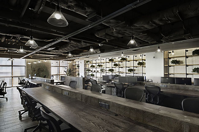 郑州新中式办公室装修效果图高清图片