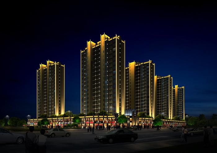 住宅楼盘照明工程设计——浏阳大瑶公馆照明设计