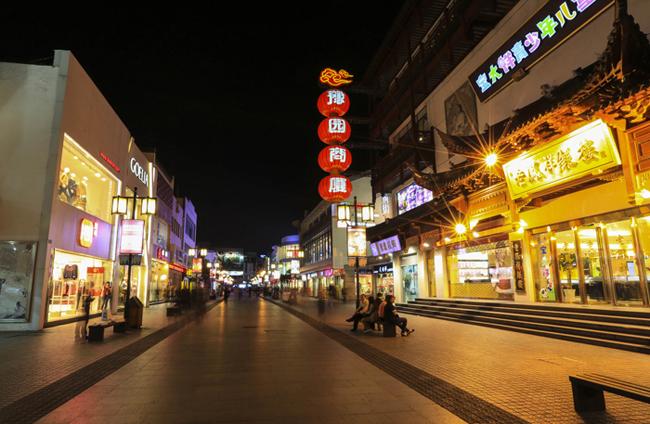 观前街商业街夜景亮化设计 拥有一种不可言喻的别样风情图片