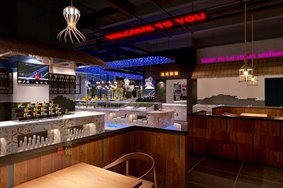 打造现代,时尚,独特牛排海鲜餐厅.