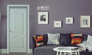 豪迈木门欧式彩绘系列环保木门室内门烤漆门