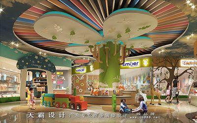 广西四川商场装修设计效果图新突破设计分享-天霸设计