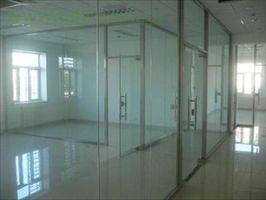 t太原玻璃门安装 定做玻璃隔断钢化玻璃隔断