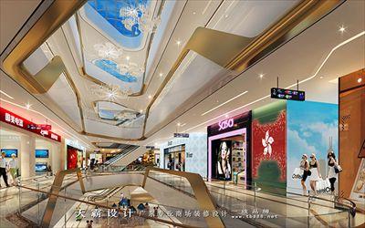 购物中心装修效果图天霸设计独特设计风格分享