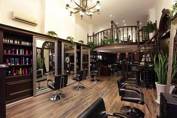 时尚个性的美发店装修效果图
