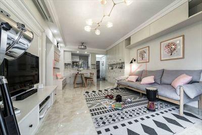 96平米两室两厅北欧风格的婚房装修设计