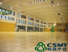 篮球馆安装运动木地板指接板的特点