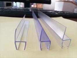 淋浴室密封条办公12厘玻璃门专用PVC透明密封隔音卡条