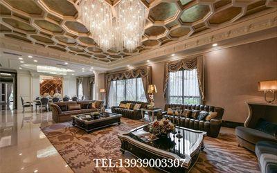 郑州别墅设计公司-600平奢华风别墅样板间装修设计案例