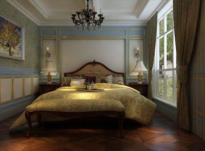 在细节上,用水晶吊灯,粉色床幔及欧式公主床来打造属于自己的公主房.