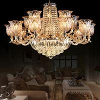 欧式客厅锌合金蜡烛灯水晶灯吊灯