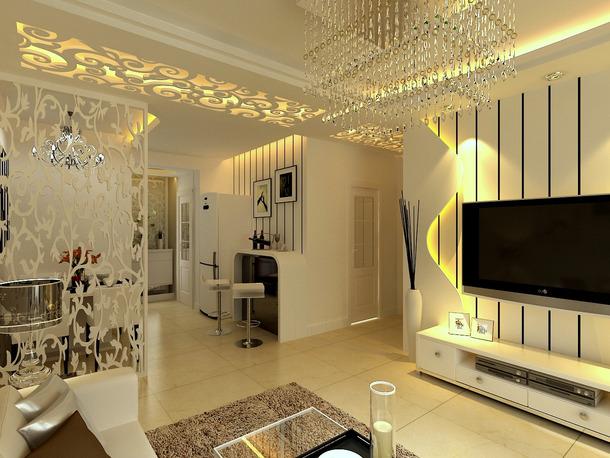 现代风格客厅装修效果图图片