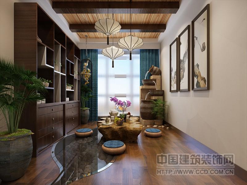 石家庄实创装饰 装修风格:新中式风格 建筑面积:117平米 房屋类型