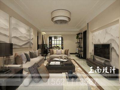 正商红枫谷118平新中式风格