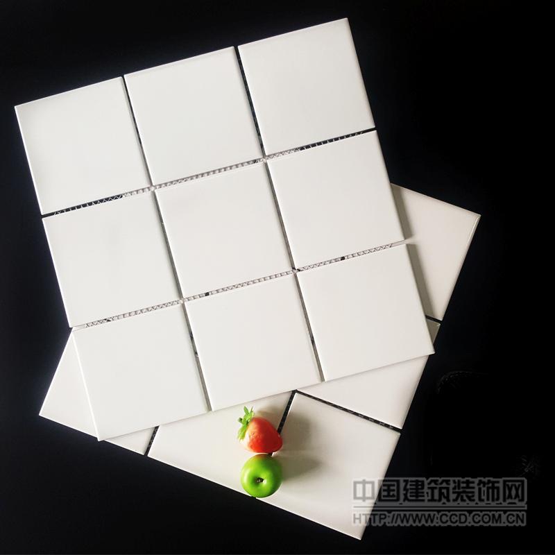 马赛克瓷砖小白砖97*97mm 300*300mm