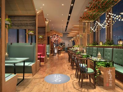 银石广场花园餐厅-成都花园餐厅装修设计