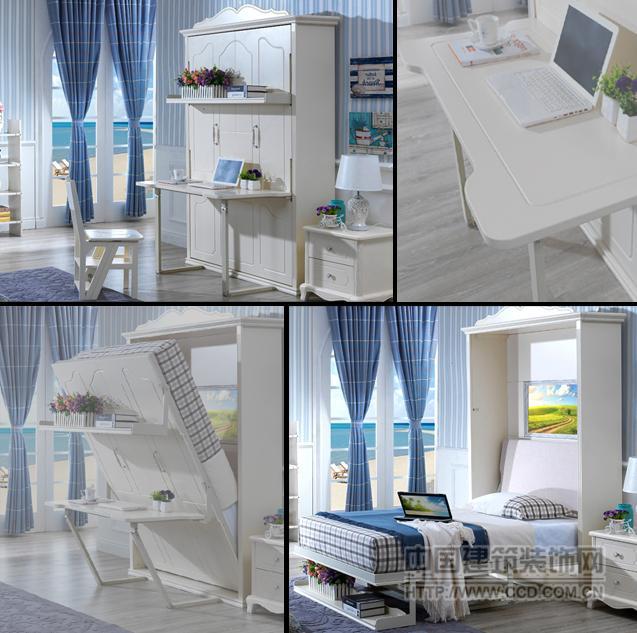 带书台隐形床、书桌隐形床