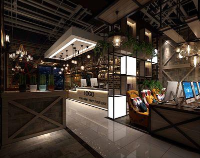 上海最新工业网咖装修设计案例——上海网咖