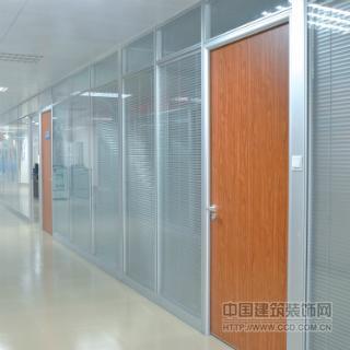 双玻百叶办公玻璃隔断墙