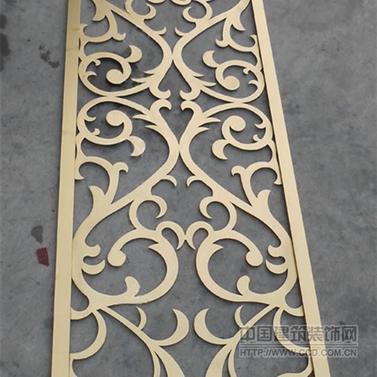 厂家定制不锈钢屏风隔断304玫瑰金金属屏风