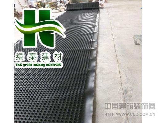 聊城25高排水板地下室阻根板施工