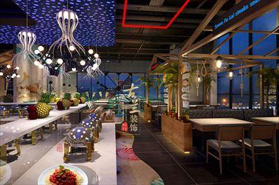 七福徕牛排海鲜自助餐厅-恩施自助餐厅设计-装修案例