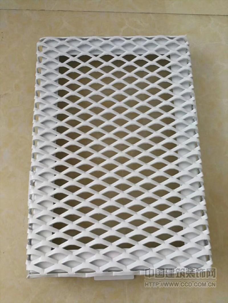 金属铝网格板 隔断拉网板天花吊顶 铝外墙拉伸网