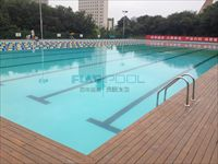flagpool施工过程之西安XX游泳馆室外池
