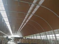 马来西亚林氏木业厂区吊顶木纹条板天花