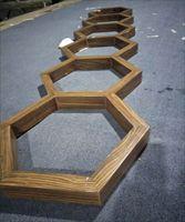仿木纹六边形铝天花吊顶造型