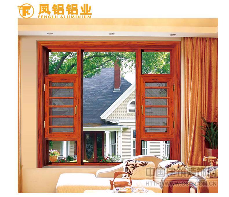 南昌十大品牌系统门窗 凤铝55隔热平开窗封阳台