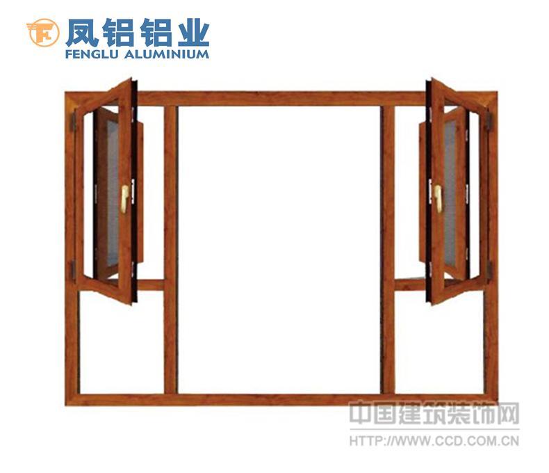 南昌十大品牌铝材门窗 凤铝55隔热平开窗封阳台定制