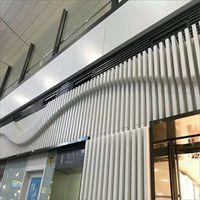 门头造型铝单板定制 高档酒店门头造型铝板
