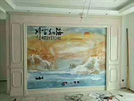 UV板3D电视背景墙,沙发背景墙,玄关生产