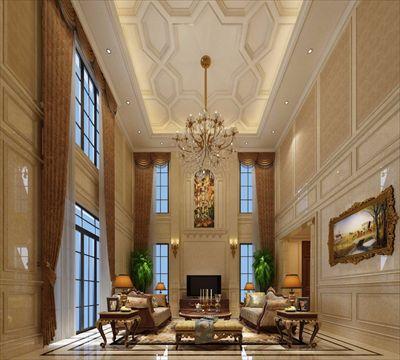 欧式古典风格 案例户型:别墅 主要材质:实木 石材 面漆 石膏线条 面积
