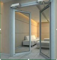 平开玻璃门电动改造90度开玻璃感应门机