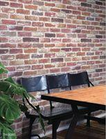 供应日本进口山月仿真砖墙效果墙纸TH-9385