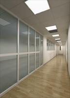 防火玻璃隔墙(不锈钢框架)