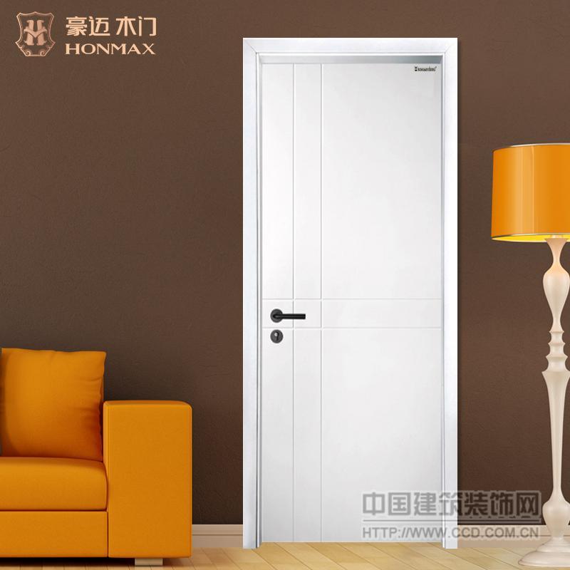 豪迈木门HMDS-002白色室内烤漆门百搭门环保木门