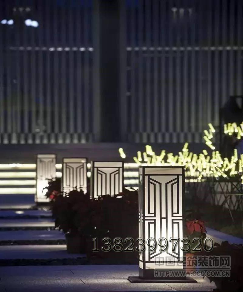 特色柱头灯小区矮方灯仿云石景观灯别墅台阶灯