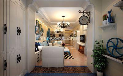 93平米地中海风格二居室案例