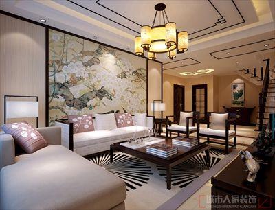 咸阳装修—交大附属楼230㎡轻尚新中式