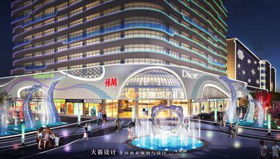 个性化购物中心装修设计效果图由天霸设计带来