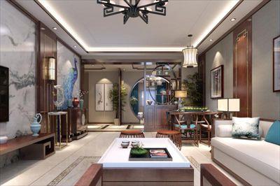 咸阳装修—厚德苑180平米新中式风格设计